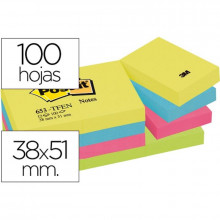 NOTAS ADHESIVAS POST-IT 38X51 ENERGIA 12U