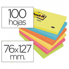 NOTAS ADHESIVAS POST-IT 76X127 ENERGIA 6U