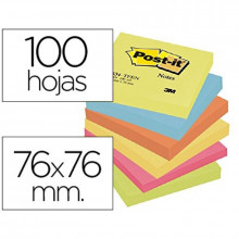 NOTAS ADHESIVAS POST-IT 76X76 ENERGIA 6U