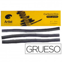 CARBONCILLO ARTIST GRUESO 7-9 MM CAJA DE 3 BARRAS