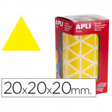 GOMETS APLI TRIANGULARES 20MM AMARILLO