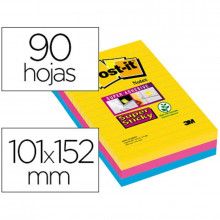 NOTAS ADHESIVAS POST-IT SUP.STICKY RAYADO 101X152