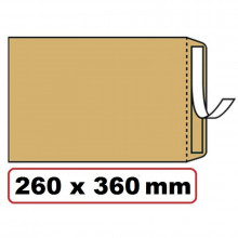 BOLSA KRAFT 260X360 FOLIO PROLONGADO