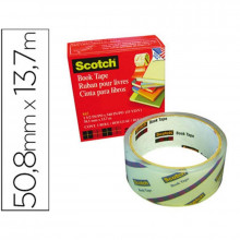CINTA ADHESIVA SCOTCH 50.8MMX13.7M BOOK TAPE
