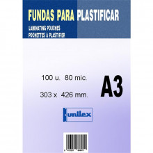 FUNDA DE PLASTIFICAR A3 80MC 100U