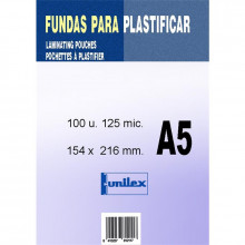 FUNDA DE PLASTIFICAR A5 125MC 100U