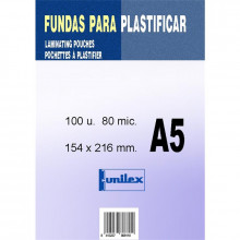 FUNDA DE PLASTIFICAR A5 80MC 100U