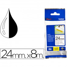 CINTA BROTHER TZES251 BLANCO/NEGRO 24MMX8M