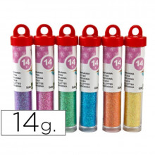 PURPURINA FANTASIA COLORES METALICOS PASTEL