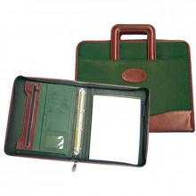 CARTERA PORTADOCUMENTOS VERDE/MARRON 360X285