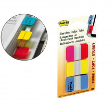 BANDERITAS POST-IT RIGIDA 25X38MM ROJO/AMARILL/AZUL