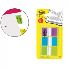 BANDERITAS POST-IT 79X49MM VERDE/AZUL/VIOLETA