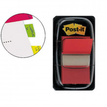 BANDERITA POST-IT PEQUEÑA 25.4X43.1MM ROJO