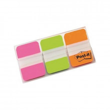 BANDERITA POST-IT RIGIDA 25X38MM ROSA/VERDE/NARANJ
