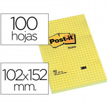 NOTAS ADHESIVAS POST-IT 102X152 AMARILLO 100H