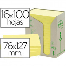 NOTAS ADHESIVAS POST-IT 76X127 RECICLADAS 16U