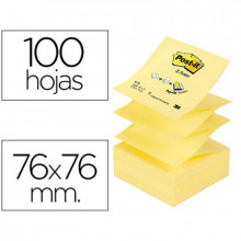 NOTAS ADHESIVAS POST-IT 76X76 ZIG-ZAG AMARILL 100H