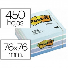 CUBO NOTAS ADHESIVAS 76X76 POST-IT 2028B AZUL 450H