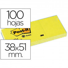 NOTAS ADHESIVAS POST-IT 38X51 AMARILLO 100H