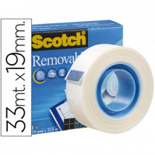 CINTA ADHESIVA SCOTCH MAGIC 33X19 MM REMOVIBLE