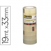 CINTA ADHESIVA SCOTCH ACORDEONPACK 8 550 19X33MM
