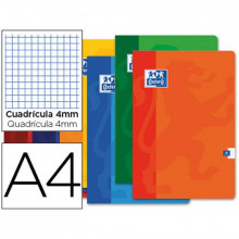 LIBRETA ESCOLAR OXFORD 48H A4 CUADRO 4 MM