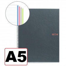 NOTEBOOK A5 RAYADO HORIZONT 4 COLORES T/NEGRO 160H